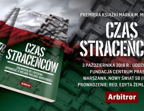 """Premiera książki Marka M. Meissnera """"Czas straceńców"""""""